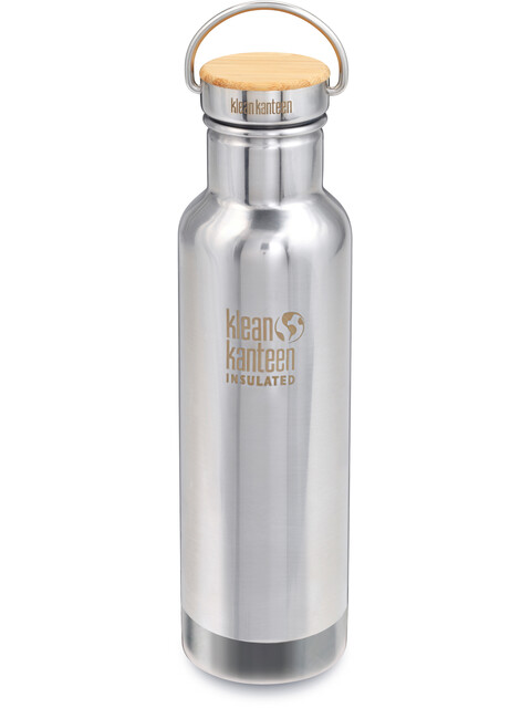 Klean Kanteen Insulated Reflect Bamboo Bottle 592ml Mirrored Stainless